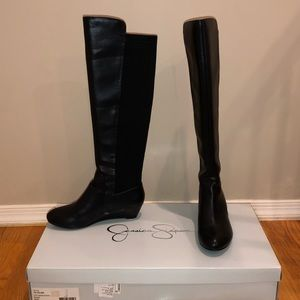 Jessica Simpson Black Joline Riding Boot
